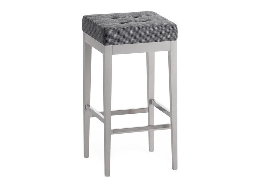 High upholstered stool POUF 01386 by Montbel