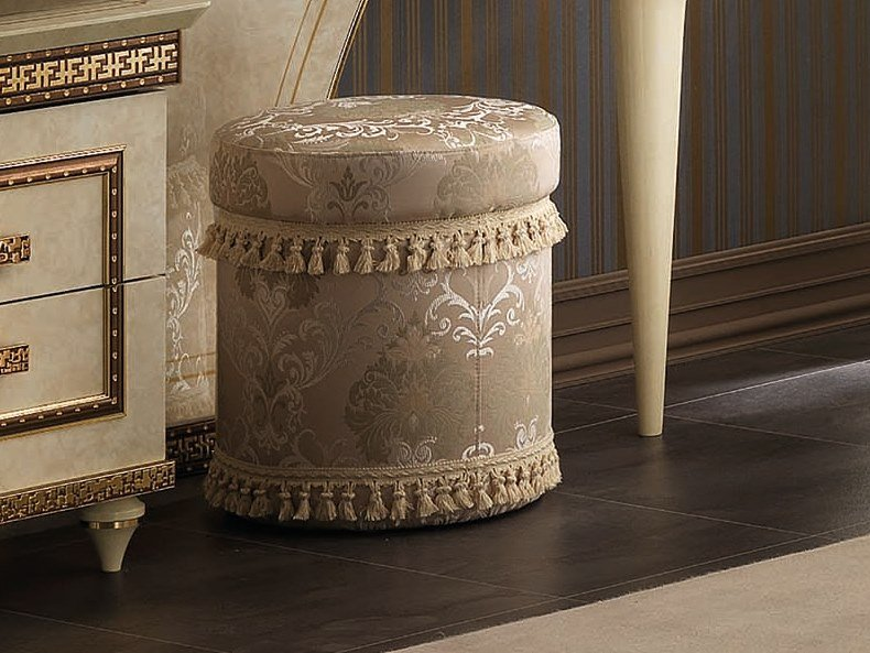 Upholstered round pouf FANTASIA | Pouf by Arredoclassic