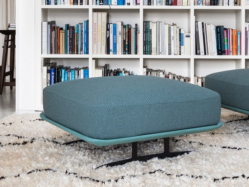 Upholstered square fabric pouf TRAYS | Pouf by BALERI ITALIA