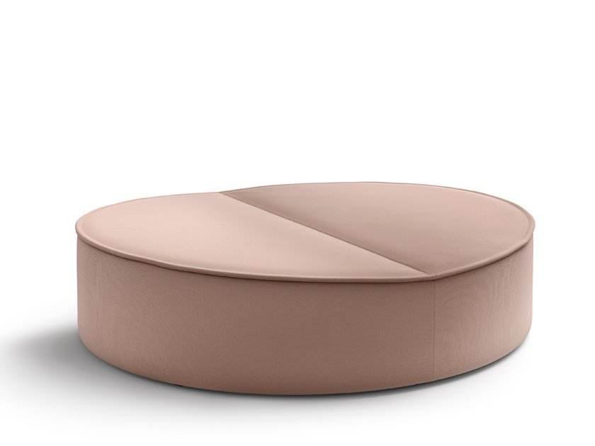 Round fabric pouf NENOU | Pouf bed by COR