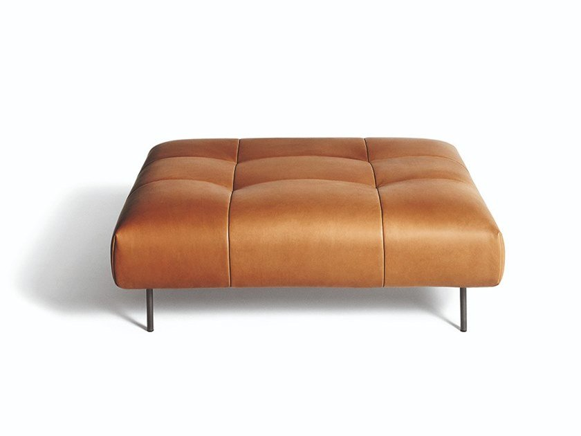 Leather footstool EREI | Footstool by DE PADOVA