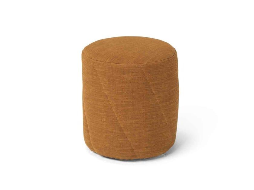 Round fabric pouf Pouf by Dienne Salotti