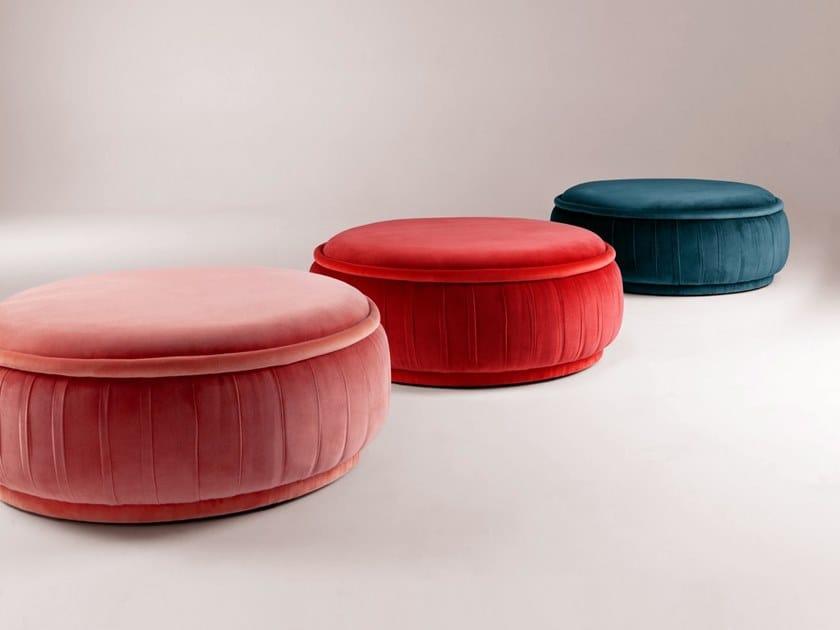 Round fabric pouf MALIBU | Pouf by DOOQ