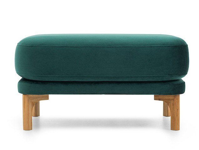 Rectangular fabric pouf LOOP | Pouf by Extraform