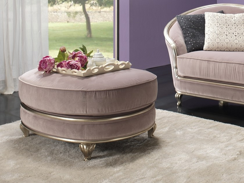 Round fabric pouf EDEN | Pouf by Gold Confort