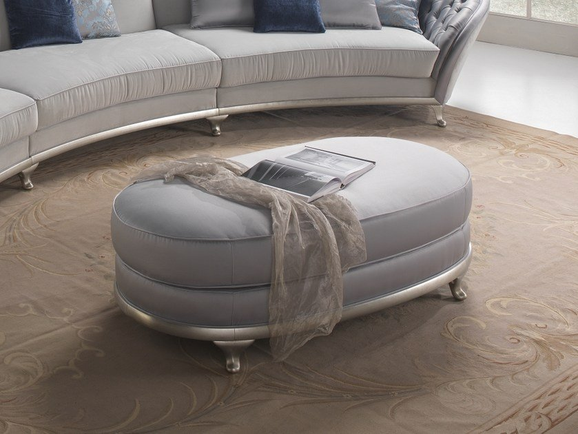 Leather pouf PETRA | Pouf by Gold Confort