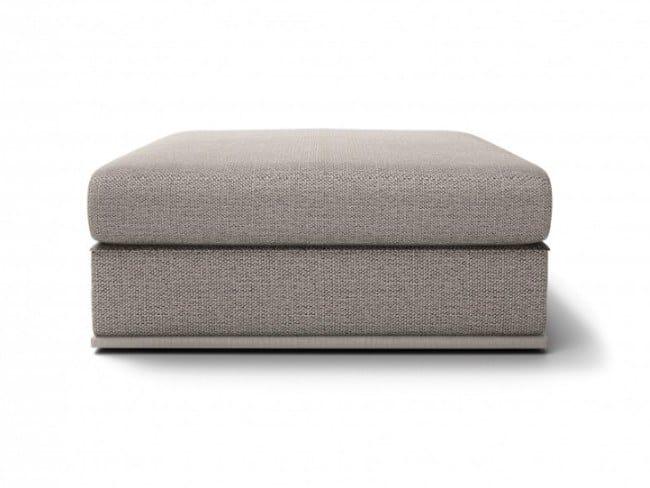 Square fabric pouf CHELSEA | Pouf by Huppé