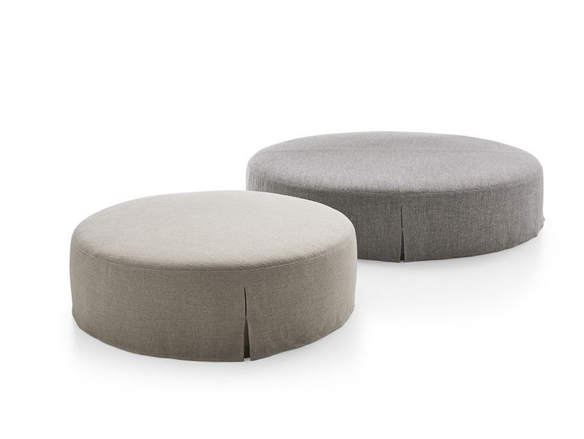 Upholstered round fabric pouf NIDUS | Pouf by Maxalto