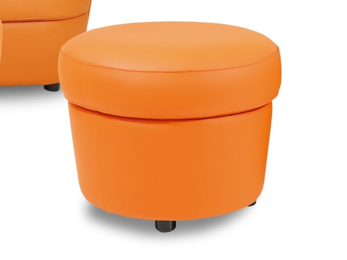 Leather pouf / footstool DISCO | Pouf by Neology