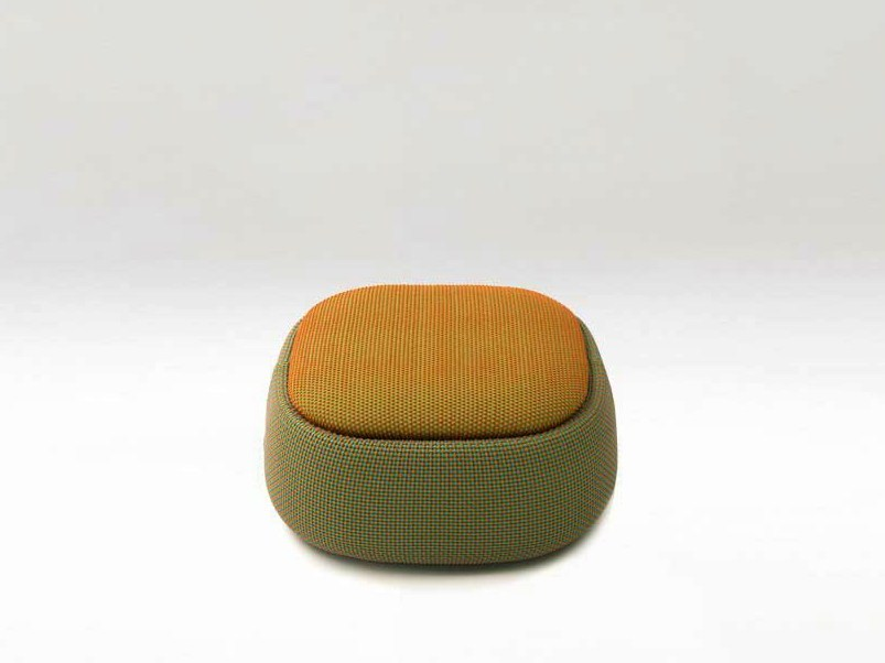Upholstered pouf with removable lining SMILE | Pouf by paola lenti