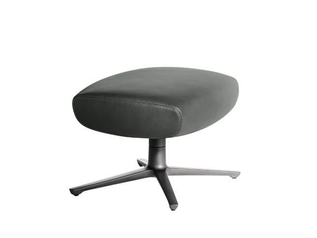 Leather pouf / footstool JAY LOUNGE | Pouf by Poltrona Frau
