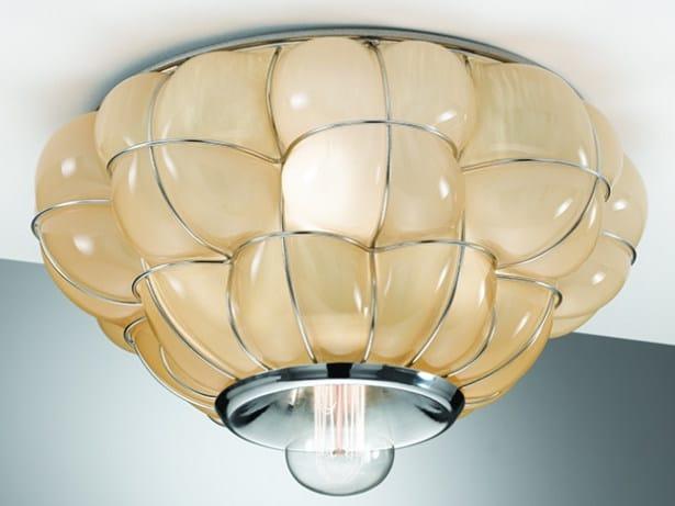 Plafoniere In Vetro Di Murano : Plafoniera in vetro di murano pouff rc 383 collezione by siru