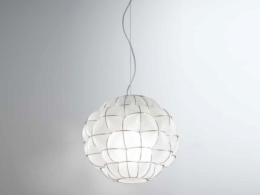 Murano glass pendant lamp POUFF RS 383 by Siru