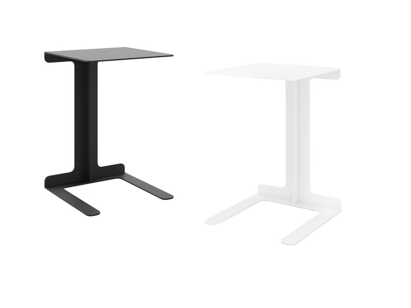 Powder coated steel side table TEO   Powder coated steel coffee table by take me HOME