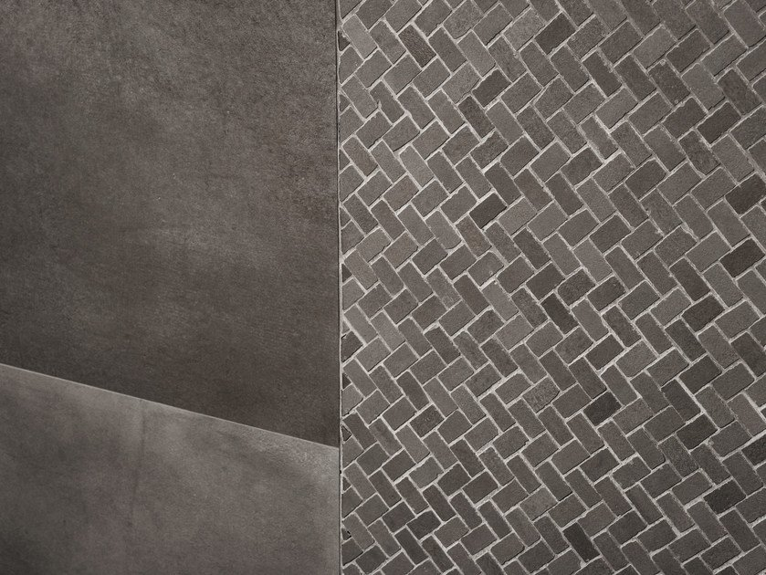 Full-body porcelain stoneware wall/floor tiles with concrete effect POWDER by MARAZZI