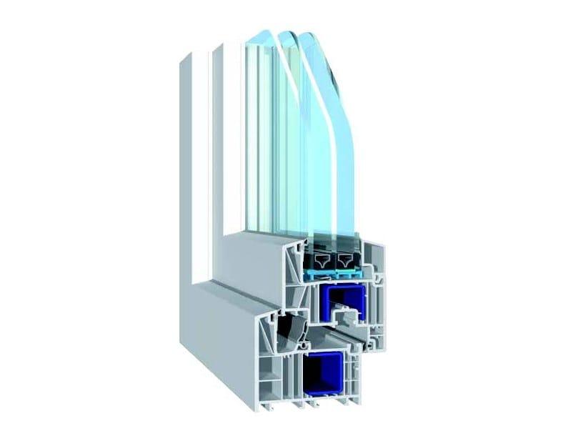 PVC casement window POWER 82 by NUSCO