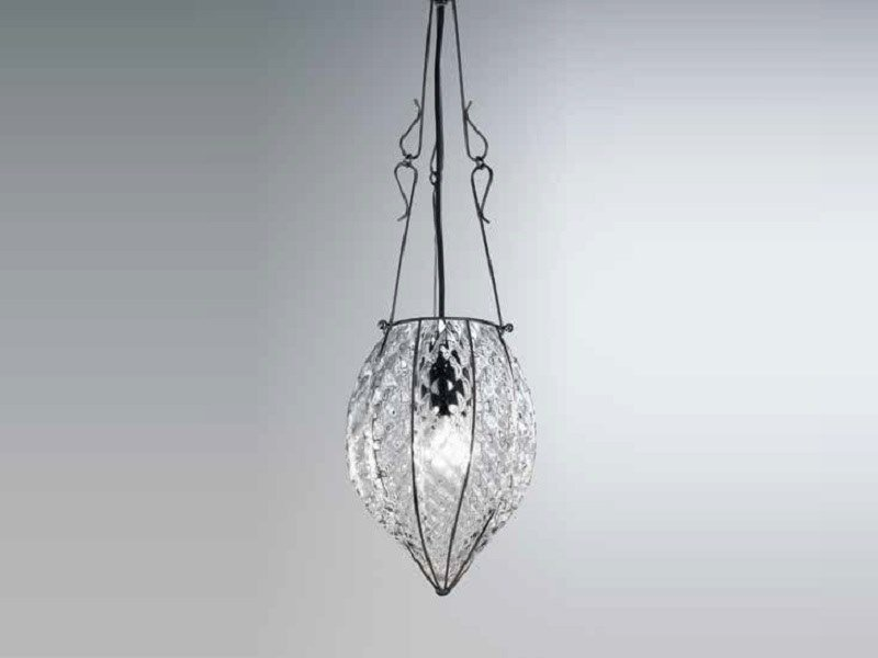 Murano glass pendant lamp POZZO RS 119 by Siru