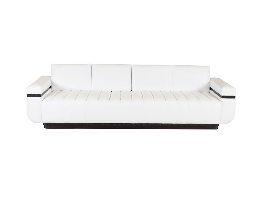 4 seater leather sofa PRAGA by Green Apple