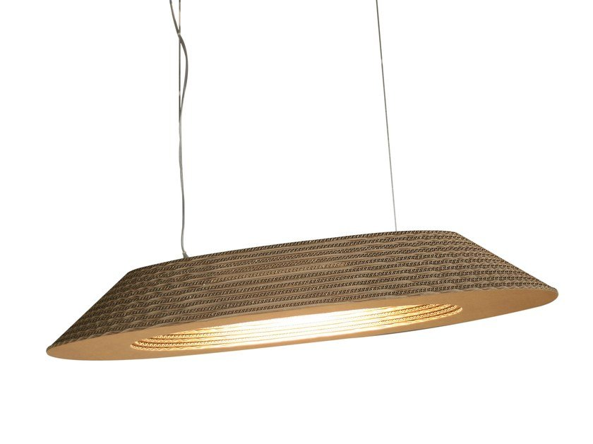 Kraft paper pendant lamp PRAGA by Staygreen