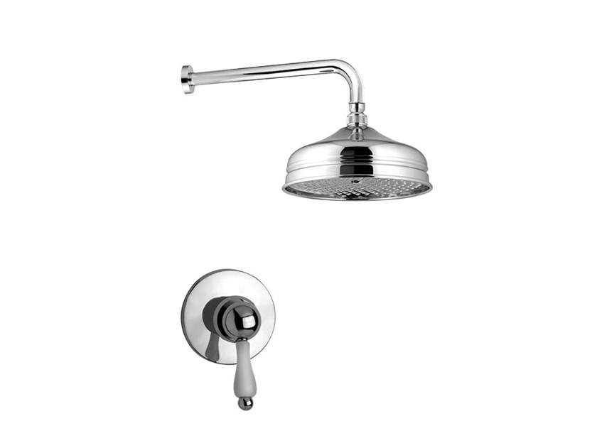 2 hole shower set with overhead shower PRAGAMIX - PRAGAMIX CRYSTAL - F7515WB by Rubinetteria Giulini