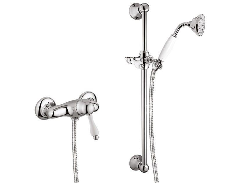 Single handle shower tap with hand shower PRAGAMIX - PRAGAMIX CRYSTAL - F7524WS by Rubinetteria Giulini
