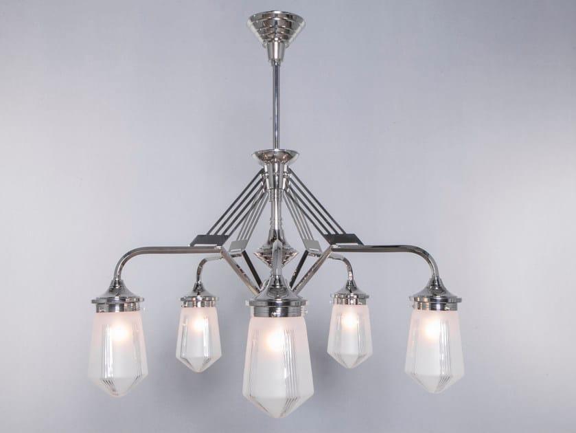 Direct light handmade nickel chandelier PRAGUE I | Nickel chandelier by Patinas Lighting