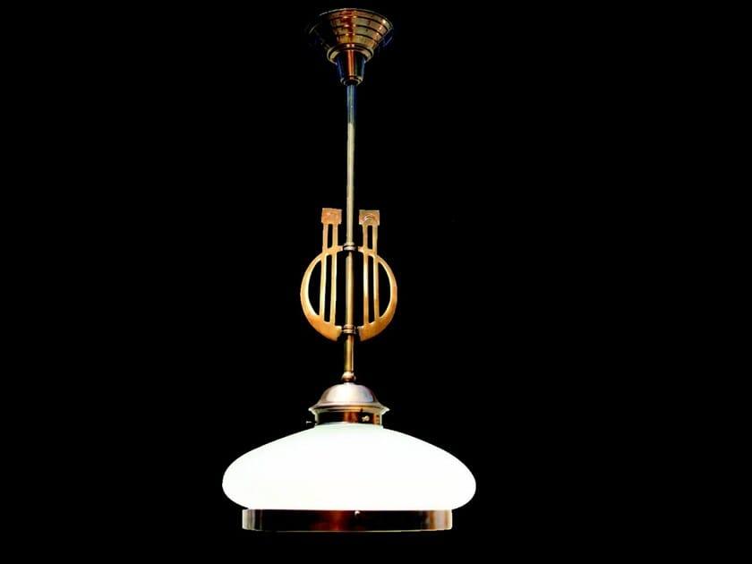 Direct light handmade brass pendant lamp PRAGUE I | Pendant lamp by Patinas Lighting