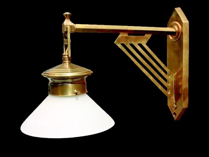 Direct light handmade brass wall lamp PRAGUE V | Wall lamp by Patinas Lighting