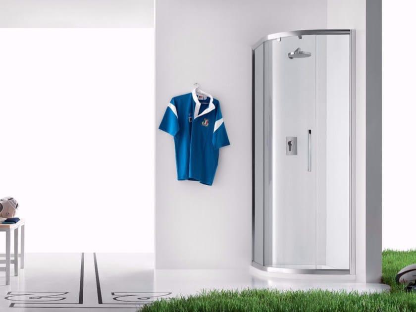 Box doccia angolare in vetro con porta scorrevole PRAIA - 8 by INDA®