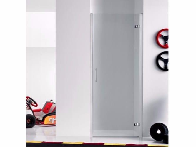 Box doccia a nicchia in vetro con porta a battente PRAIA DESIGN - 3 by INDA®