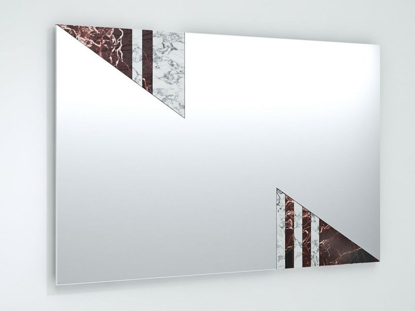 Rectangular wall-mounted mirror PRANA by Visionnaire