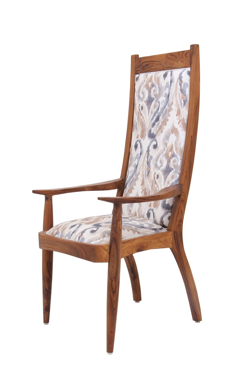 Fabric chair with armrests PRANSHU   High-back chair by ALANKARAM