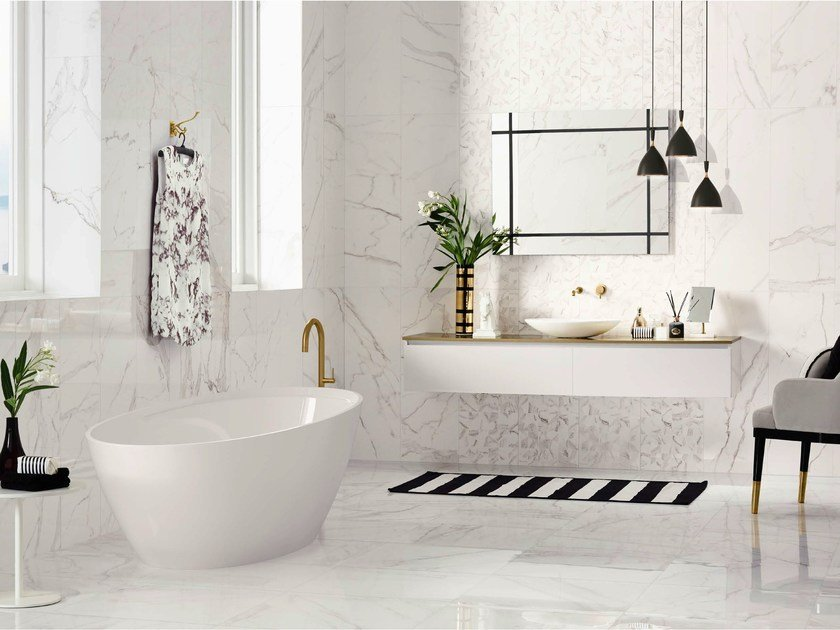 White-paste wall tiles with marble effect PRECIOUS   Wall tiles by Love Tiles