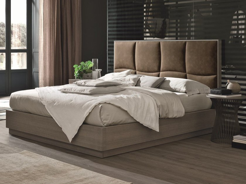 Ash double bed with high headboard PRESTIGE | Ash bed by Gruppo Tomasella