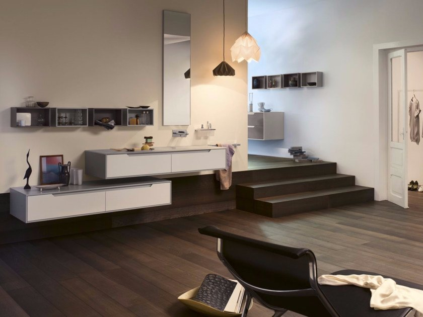 Laminate bathroom cabinet / vanity unit PRESTIGE - Composition 1 by INDA®