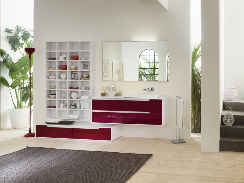 Laminate bathroom cabinet / vanity unit PRESTIGE - Composition 3 by INDA®