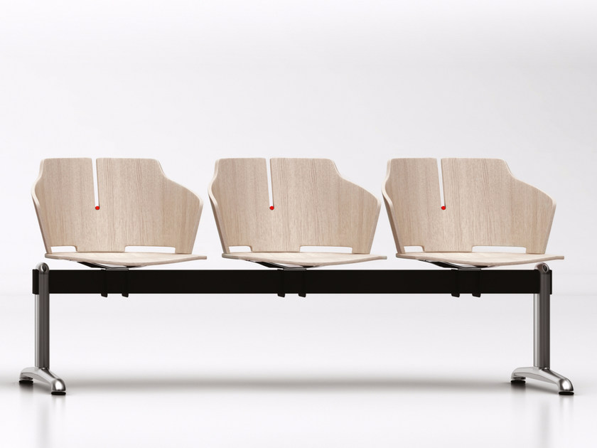 Freestanding laminated wood beam seating PRIMA | Beam seating by Luxy