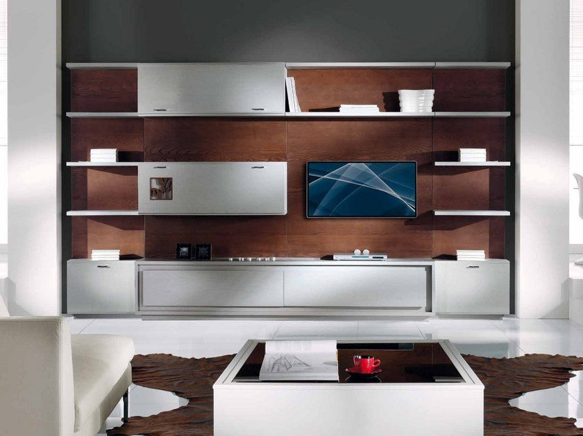 Sectional TV wall system PRIMA CLASSE | Storage wall by Arvestyle