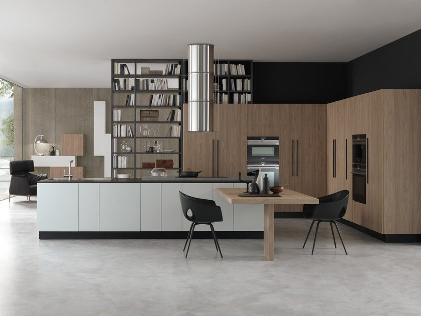 Lacquered HPL fitted kitchen with island PRIMA | Lacquered kitchen by Floritelli Cucine