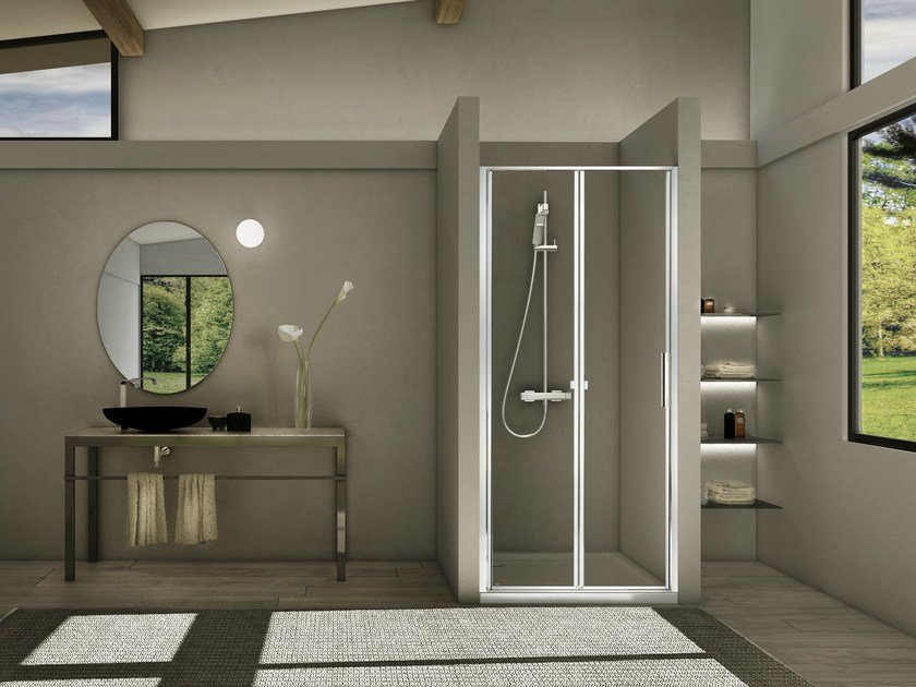 Niche glass and aluminium shower cabin STILA 2000 by Duka