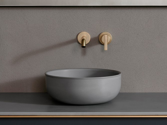 Countertop round single Cementsolid washbasin PRIME   Cementsolid washbasin by INBANI