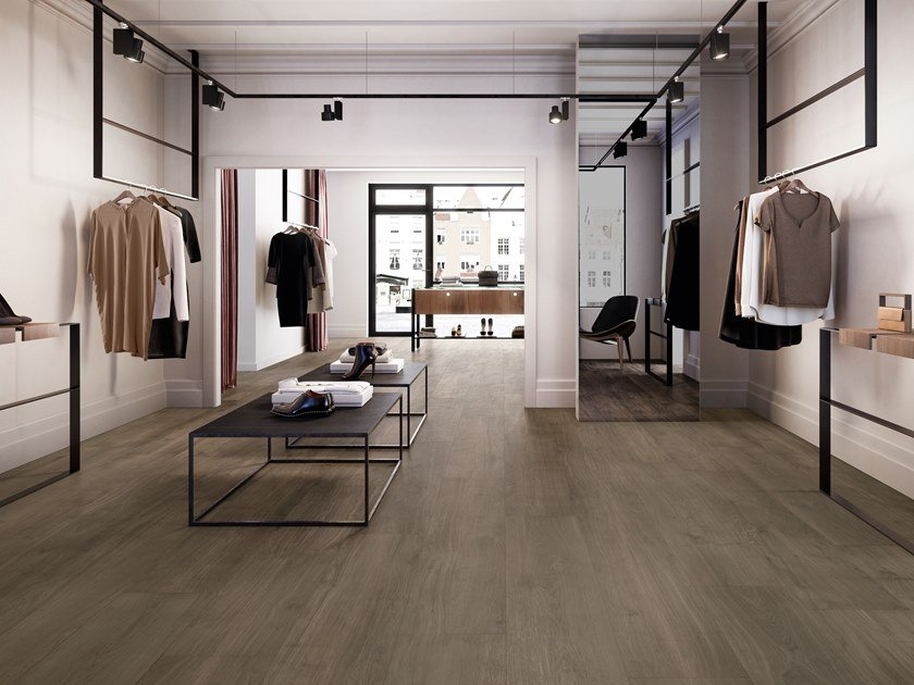 Porcelain stoneware wall/floor tiles with wood effect PRIMEWOOD BROWN by CERAMICA SANT'AGOSTINO