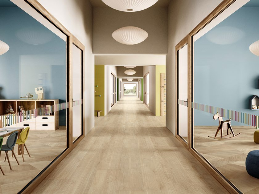 Porcelain stoneware wall/floor tiles with wood effect PRIMEWOOD HONEY by CERAMICA SANT'AGOSTINO