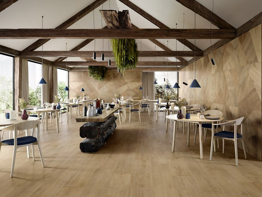 Porcelain stoneware wall/floor tiles with wood effect PRIMEWOOD NATURAL by CERAMICA SANT'AGOSTINO