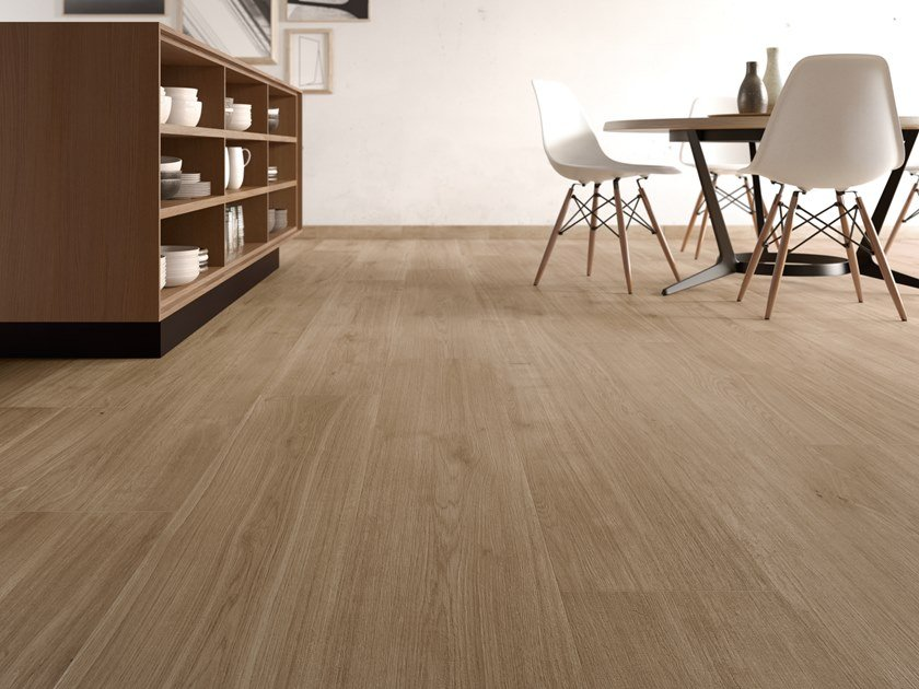 Porcelain stoneware wall/floor tiles with wood effect PRIMEWOOD NUT by CERAMICA SANT'AGOSTINO