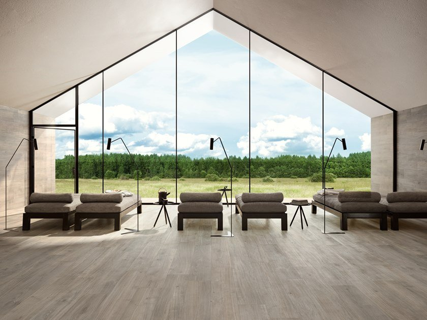 Porcelain stoneware wall/floor tiles with wood effect PRIMEWOOD TAUPE by CERAMICA SANT'AGOSTINO