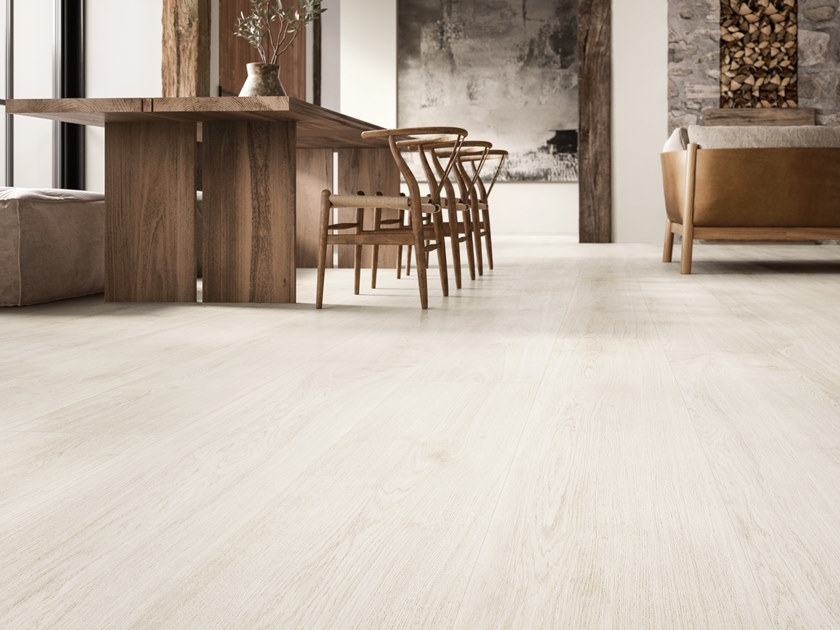 Porcelain stoneware wall/floor tiles with wood effect PRIMEWOOD WHITE by CERAMICA SANT'AGOSTINO