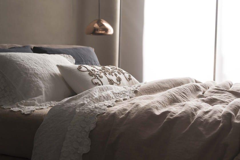 Linen duvet cover with floral pattern PRIMULA | Duvet cover Decor ...