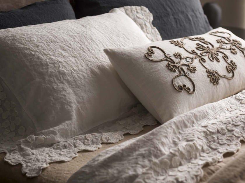 Federa in lino con motivi floreali PRIMULA | Federa by LA FABBRICA DEL LINO