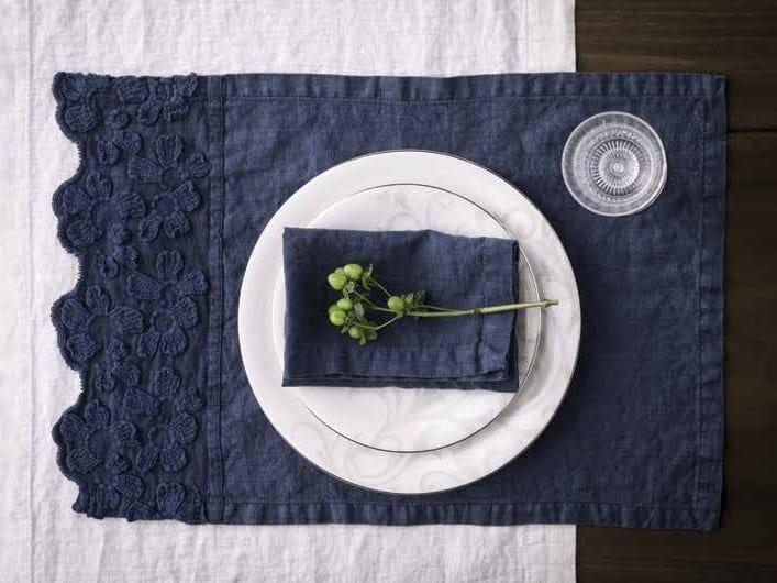 Rectangular linen placemat PRIMULA | Placemat by LA FABBRICA DEL LINO